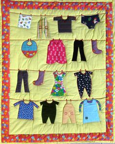 Baby Memory Quilt on Pinterest Memory Quilts, Clotheslines and Baby?