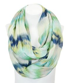 This Blue & Green Watercolor Infinity Scarf is perfect! #zulilyfinds