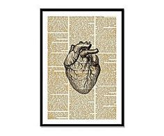 Lienzo Heart Study heart studi, lienzo heart