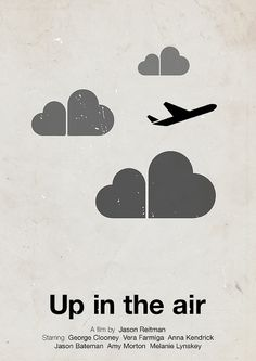 'Up in the air' pictogram movie poster by Viktor Hertz