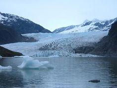 Mendenhall Glacier near Juneau, Alaska.