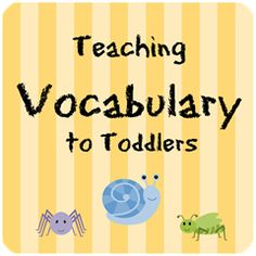 Vocabulary building activities for toddlers