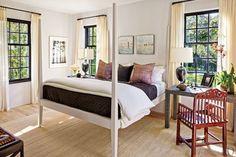 bedroom idea, guest bedrooms, window frame