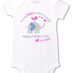 Fathers Day onesie or Tshirt Personalized baby no one loves me like my daddy great first fathers day gift $16.50