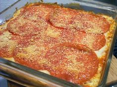 ELLEN�S NOODLELESS LASAGNA Serves: 4 INGREDIENTS 1 lb. ground beef 1 cup low-carb spaghetti sauce 1 can (4 ounces) sliced mushrooms 1 ...