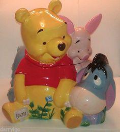 Winnie The Pooh Large Disney Cookie Jar with Piglet Eeyore