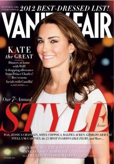 September 2012 | Kate Middleton graces the cover of VF's Style Issue.