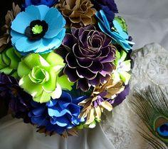 Paper Bridal Bouquet