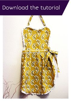 DIY Apron - this will be my first apron pattern to try! I'm so excited!