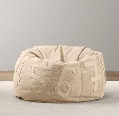 Recycled canvas bean bag chair