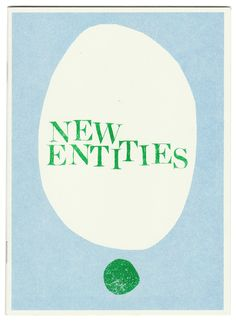 New Entities zine By Liana Jegers