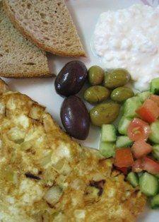 Israeli breakfast at home