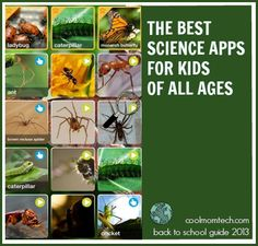 The best science apps for kids of all ages. Great list to bookmark.