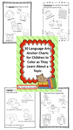 Keep their memories sharp with these 30 anchor charts to color.  http://www.teacherspayteachers.com/Product/30-Student-Anchor-Charts-for-LanguageReading-Concepts-938385