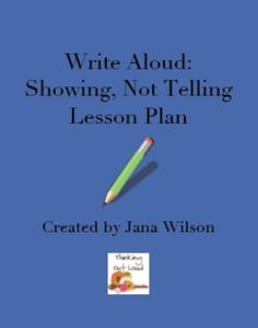 lesson plan for Show, Not Tell writing strategy