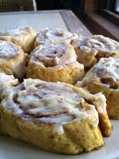 Pumpkin cinnamon rolls,gluten-free