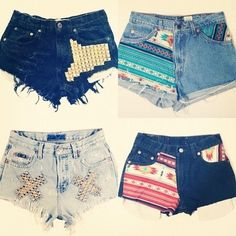 Lots of high wasted shorts ideas.