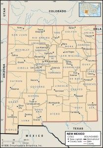 Map of #NewMexico Counties #history #genealogy