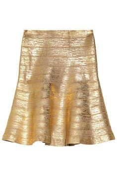 women fashion, skirts, herve leger, metallicco bandag, flare skirt, bandag skirt, herv leger, hervé légermetallicco, bandag flare