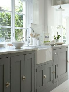 Love the sink & counter tops!