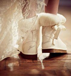 Winter Wedding <3 idea, ugg boots, winter wedding boots, bridesmaid gifts, dream wedding, winter boots, marri, shoe, winter weddings