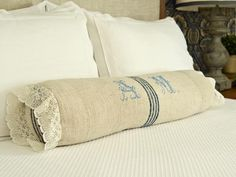 How to Sew a Bedroom Bolster Pillow  http://www.hgtv.com/bedrooms/how-to-sew-a-bedroom-bolster-pillow/index.html?soc=pinterest