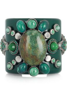 Emilio Pucci  Glass crystal and stone-embellished cuff