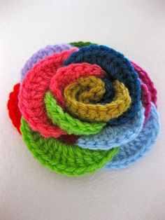 Loopy Roses ~ crochet pattern