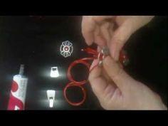 Pulsera de cuero con flores roja - YouTube