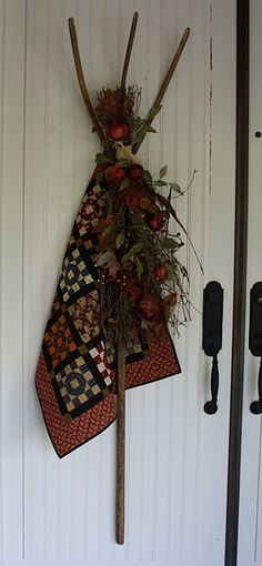 Love the way this small quilt is displayed