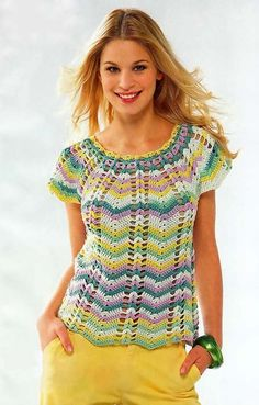 Summer chevron top, with pattern