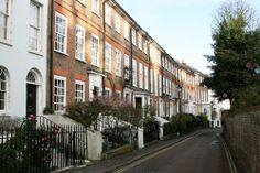 Sion Row, Twickenham. A very charming terrace of 1720s houses.
