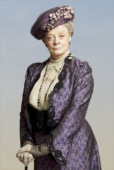 VIOLET, DOWAGER COUNTESS OF GRANTHAM  The mother of Robert, Earl of Grantham, Violet is proud, loyal to her son and immensely insufferable to her American daughter-in-law Cora, whom she regards as an interloper, a living compromise the family has had to make.