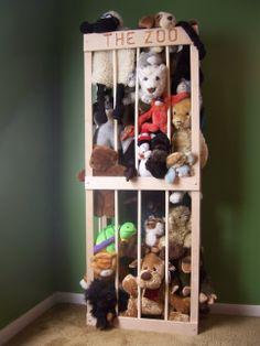 awesome idea for stuffed animals Anim Zoo, Zoo Cage For Stuffed Animals, Idea, Stuff Animals, Aziz Bedroom, Stuff Animal Zoo, Babi Stuff