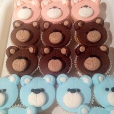 Teddy Bear Cupcakes for the school coffee morning