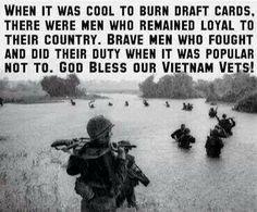 Thank you Vietnam Vets.