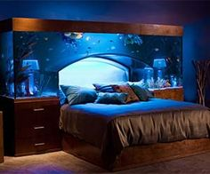 If you can afford to pay $11,000 for a headboard, presumably you can afford to pay someone to clean the tank every day before you go to bed so you don't spend your night looking at fish poop.