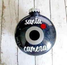Santa's Spy Camera - Christmas Elf Accessory - Santa Is Watching You Ornament - Funny Christmas Ornament - Santa Cam - Elf???