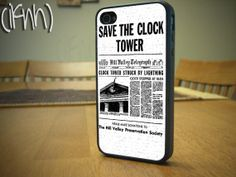 Save the Clock Tower iPhone 4 or 4S Case Back To The Future Case on Etsy, $15.00