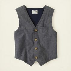 boy - outfits - spring dressy - chambray vest | Children's Clothing | Kids Clothes | The Children's Place