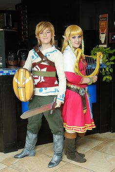 Link and Zelda #cosplay (Legend of Zelda)