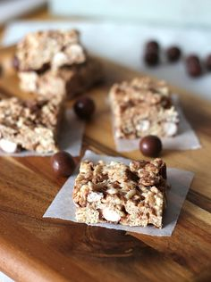 Malted Milk Ball Krispie Treats from the krispie queen: @Shelly Jaronsky (cookies and cups)