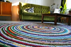 Rug from old T-shirts
