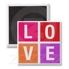 Love Blocks Magnet