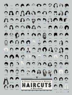 A visual compendium of notable haircuts. #infographic
