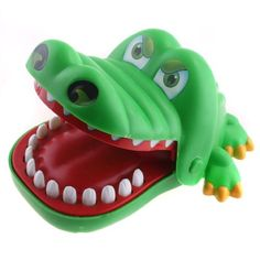 I loved this toy when I was little!  You pull his teeth until he bites you... so suspenseful