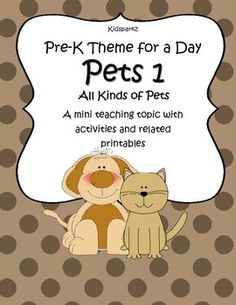 Pets 1 - Pre-K Theme for a Day includes all the activities and printables (to make hands-on centers and games) that you need for a full day of teaching - and more. Very low $
