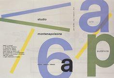 Max Huber, Studio Montenapoleone, 1955