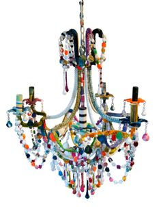 The Cut Glass Chandelier via The Cools