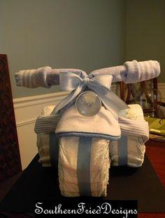 bicycle diaper cake